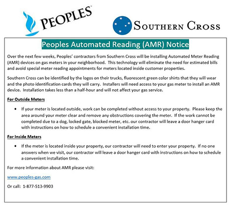 Peoples Automated Reading (AMR) Notice