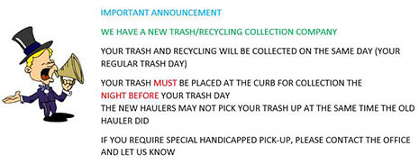 New Trash/Recycling Collection Company